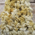 Hand crochet scarf made from banana fibre. Chunky stitched. year round accessory