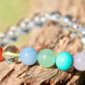 Crystals For Happiness, Love and Positive Energy Gemstone Bracelet.