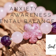 Anxiety Awareness and Mental Balance, Gemstone Bracelet.