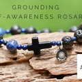 One Decade Rosary Bracelet, Crystals For Grounding and Self-Awareness.