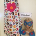 ~ Girl's Personalised Standard Superhero Set ~ MADE TO ORDER ~ Cape, Mask & Cuff