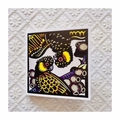 3 Pack of Blank Greeting Cards Featuring Original Hand-Coloured Lino Prints