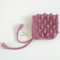 Mustard, Dusty Rose or Sage Crochet Newborn Bobble Baby Pixie Bonnet Beanie Hat