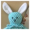 Blue bunny soft toy rattle