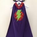 ~ Girls Basic Superhero Set ~ MADE TO ORDER ~ Mask & Cape ~