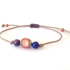 Minimalist Bracelet/ Colour Changing Bracelet/ Mood Bracelet - Gold, Pink, Green