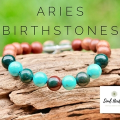 Aries Birthstone Bracelet, Crystals For Aries.