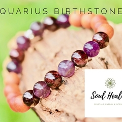 Aquarius Birthstone Bracelet, Crystals For Aquarius.