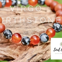 Virgo Birthstone Bracelet, Crystals For Virgo.