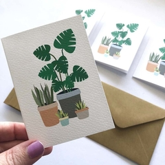 Mini Gift Card Pack and Envelopes, Indoor Plants Mini Cards, Set of 4, GC12