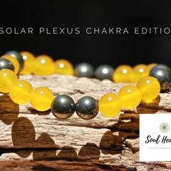 Solar Plexus Chakra Gemstone Bracelet, Seven Chakras Edition Bracelet.