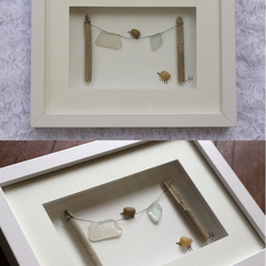 3D FRAMED PEBBLE ART