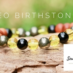 Leo Birthstone Bracelet, Crystals For Leo.