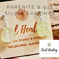 Phrenite Stones and 925 Sterling Silver Earrings.