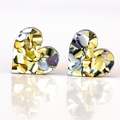 Gold and Silver Glitter Hearts 12mm | Surgical Steel | Free Shipping