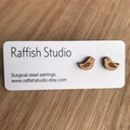 Sustainable Bamboo Love Birds Stud Earrings | Bird Jewellery