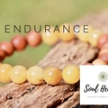Yellow Jasper and Sandalwood Gemstone Bracelet, Crystals For Endurance.