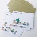 Notecard Pack - Indoor Plants - Set of 5 Notecards and Envelopes - NOT038