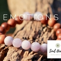 Kunzite and Aromatic Sandalwood Gemstone Bracelet, Crystals For Emotions.