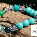 Turquoise, Quartz Crystal and Chrysocolla Gemstone Bracelet.