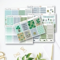 Indoor Plants Weekly Kit Planner Stickers Vertical for the Erin Condren - KIT001