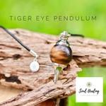 Tiger Eye Pendulum, Dowsing  Reiki Chakra.