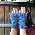 Blue Fingerless Mittens/Gloves