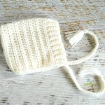 Cream Newborn Crochet Baby Pixie Bonnet Beanie Hat Photo Prop