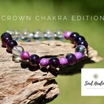 Crown Chakra Gemstone Bracelet, Seven Chakras Edition Bracelet.