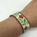 Vintage Inspired Rose Bead Bracelet Flowers Nature