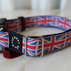 Hairy Britain Collar for larger dogs with ID tag and customised engraving