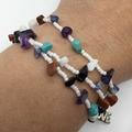Good Karma Beaded Bracelet/Necklace White Love Gemstone