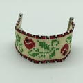 Vintage Inspired Rose Bead Bracelet Flowers Nature