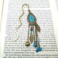 Bronze & Blue Boho Bookmark