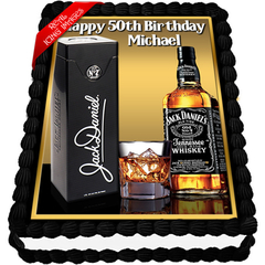 Jack Daniels Edible Icing Image Cake Topper