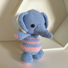 Blue Elephant -   crocheted, knitted, softies