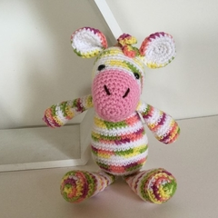Debra the Zebra - crocheted, knitted, softies