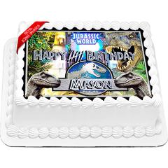 Jurassic World Dinosaurs Edible Cake Topper Icing Image