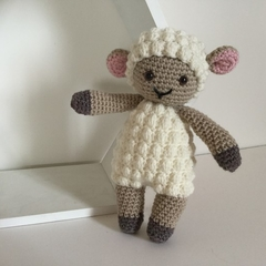 Baby Lamb -   crocheted, knitted, softies