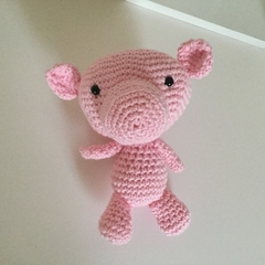 Polly Piggie  -  crocheted, knitted, softies