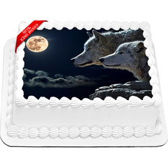 Wolves Edible Icing Image Cake Topper