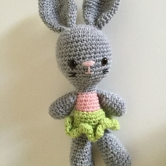 Ballerina Bunny -   crocheted, knitted, softies