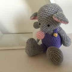 Georgie the Mouse - crocheted, knitted, softies