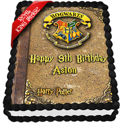 Harry Potter Book of Spells Edible Icing Image Cake Topper