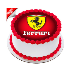 Ferrari Edible Icing Image Cake Topper