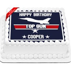 Top Gun Edible Cake Topper Icing Image