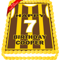 Hawthorn Football Guernsey Edible Icing Image Cake Topper