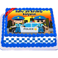 Police Edible Cake Topper Icing Image