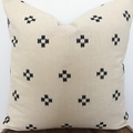 Chiangmai native cotton off white and blue cushion cover 50cmx50cm