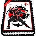 Ninja Edible Icing Image Cake Topper